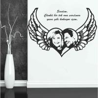 Kanatlı Kalp Özel Tasarım Duvar Sticker